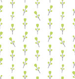 Seamless Pattern with Floral Elements Stock Image