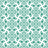 Seamless pattern of floral elements Royalty Free Stock Photo