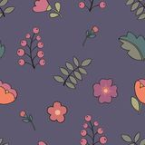 Seamless pattern with floral elements. Stylized flowers. Seamless background for your design Stock Images