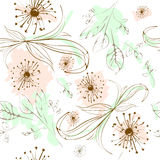 Seamless pattern floral elements Royalty Free Stock Images