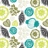 Seamless pattern with floral elements .  Vector abstract background. Royalty Free Stock Photography