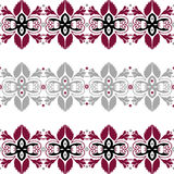 Seamless pattern with floral elements on white Stock Photo
