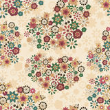 Seamless pattern with floral hearts Royalty Free Stock Images