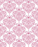 Seamless pattern with floral hearts Stock Image