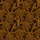Seamless pattern with floral lace ornament Royalty Free Stock Images