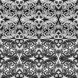 Seamless pattern - floral lace ornament Stock Photos