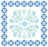 Seamless pattern with floral motif in retro style. Royalty Free Stock Photos