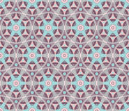 Seamless pattern with floral motifs. Cute doodle style flowers rosettes in seamless pattern Stock Photography