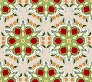 Seamless pattern with floral motives Stock Photo