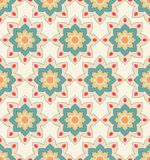 Seamless pattern with floral motives Royalty Free Stock Photos