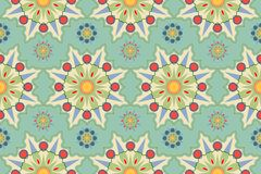 Seamless pattern with floral motives Royalty Free Stock Photography
