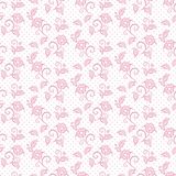 Seamless pattern floral ornament background design for fabric in soft pastel pink colors vector illustration Royalty Free Stock Images