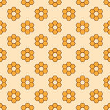 Seamless pattern floral ornament background. Vector texture seamless backgrounds Royalty Free Stock Image