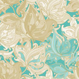 Seamless pattern with floral ornament royalty free illustration