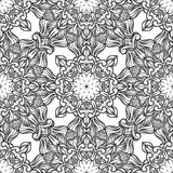 Seamless pattern with floral ornament. Round kaleidoscope Royalty Free Stock Images