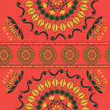 Seamless pattern with floral ornament in russian national style Royalty Free Stock Image