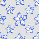 Seamless pattern with floral ornament. Vector Stock Photos
