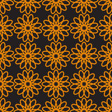 Seamless pattern with floral ornament. Royalty Free Stock Photos