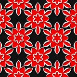 Seamless pattern. Floral red and black 3d background. Vector illustration Royalty Free Stock Images