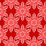 Seamless pattern. Floral red 3d background. Vector illustration Stock Image