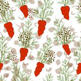 Seamless pattern with carrot. vector illustration