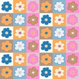 Seamless pattern with floral tiles Royalty Free Stock Photos