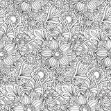 Seamless pattern with florall  ornament Royalty Free Stock Photo
