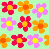 Seamless pattern with flower Royalty Free Stock Photography