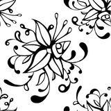 Seamless pattern with  flower Stock Image