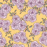Seamless pattern of flower background Royalty Free Stock Photography