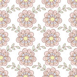Seamless pattern of flower background Royalty Free Stock Photos