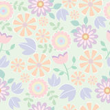 Seamless pattern of flower background Stock Photos