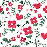 Seamless pattern of flower background Stock Images