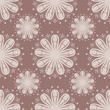 Seamless pattern with flower element. Brown and beige abstract wallpaper. Vector illustration Royalty Free Stock Images