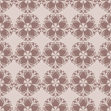 Seamless pattern with flower element. Brown and beige abstract wallpaper. Vector illustration Stock Photography