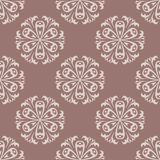 Seamless pattern with flower element. Brown and beige abstract wallpaper. Vector illustration Royalty Free Stock Photography