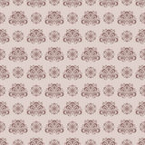 Seamless pattern with flower element. Brown and beige abstract wallpaper. Vector illustration Stock Photo