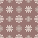 Seamless pattern with flower element. Brown and beige abstract wallpaper. Vector illustration Royalty Free Stock Image