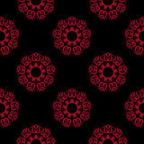 Seamless pattern with flower element. Red and black abstract wallpaper. Vector illustration vector illustration