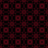 Seamless pattern with flower element. Red and black abstract wallpaper Royalty Free Stock Photo