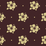 Seamless pattern with flower vector illustration