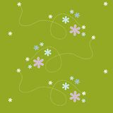Seamless pattern- flower green royalty free stock photography