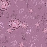 Seamless pattern flower and leaves stock illustration