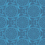 Seamless pattern flower line Stock Photo