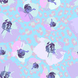Seamless pattern of flower orchids Royalty Free Stock Photo