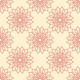 Seamless pattern with  flower ornament. Royalty Free Stock Photos
