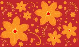 Seamless pattern with flower pattern royalty free illustration
