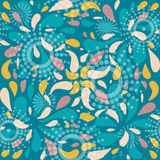 Seamless pattern with flower petals. Seamless pattern with flower petals and circles Royalty Free Stock Image