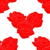 Seamless pattern of Flower rose form of heart vector vector illustration