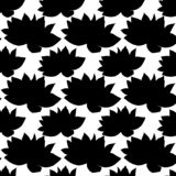 Seamless pattern, flower silhouette Indian lotus flowers, bright multicolored texture. royalty free illustration